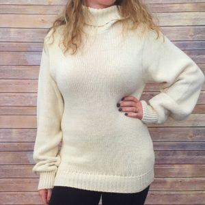 J. Crew cream vintage turtleneck sweater